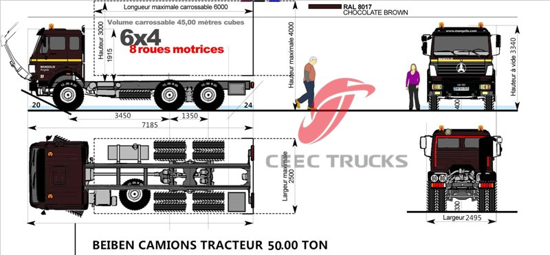 BEIBEN North Benz V3 2530 LNG 6x2 300hp heavy trailer truck tractor head prime mover camion hot sale in Africa low price