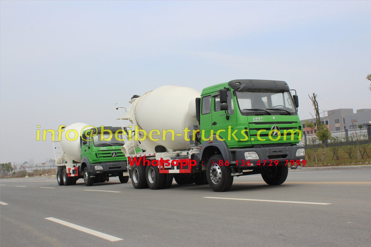 China Beiben 6x4 340hp 10 Cubic Meters Concrete Mixer Truck