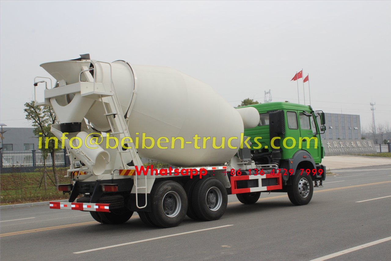 Beiben good quality 6x4 mixer truck 8 cubic meters sale in Mongolia