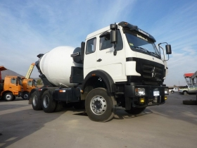 china beiben 6*4 cement mixer truck manufacturer,