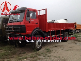 cheap Beiben 4*4 drive cargo truck with crane  price