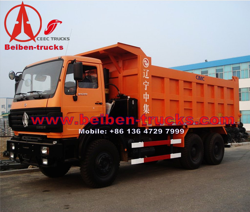 china north benz 380 hp engine camions benne manufacturer for sale