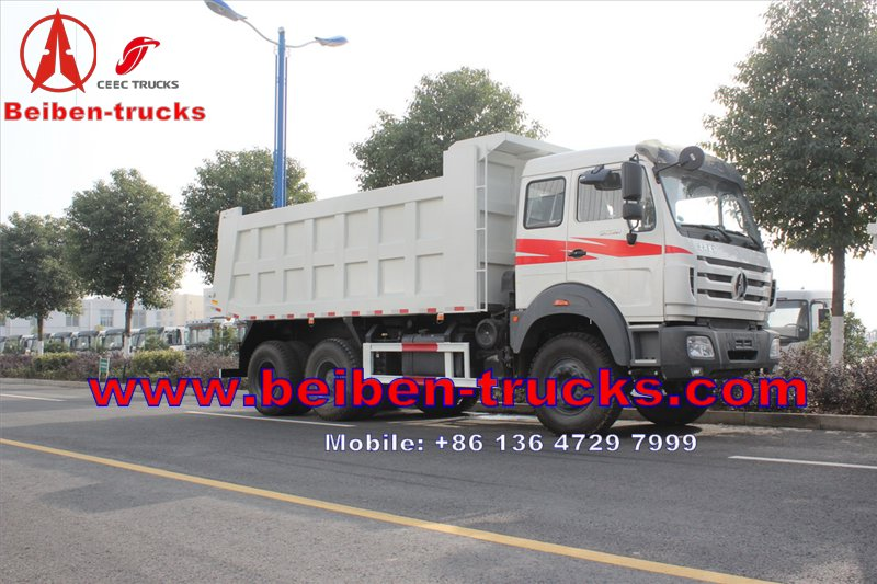 china BEIBEN DUMP TRUCK 6x4 380hp EURO II,BENZ axle MERCEDES BENZ technology