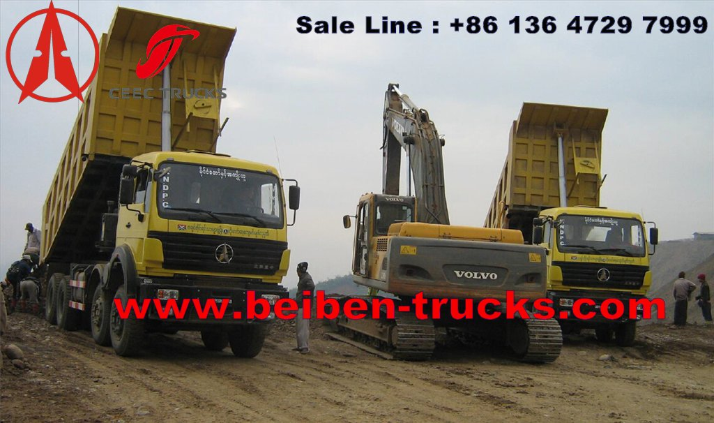 congo Mercedes Benz Technology High Quality RHD Beiben 10 wheel dump truck for sale
