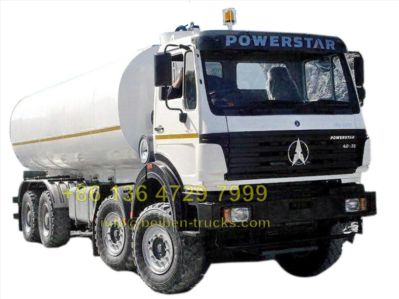 china north benz 8*4 fuel tanker truck price