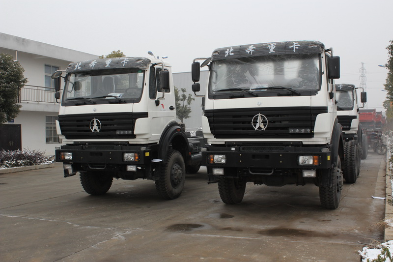 10 units beiben 2534 truck chassis, 6*6 driving truck export to CONGO, Brazavaiile