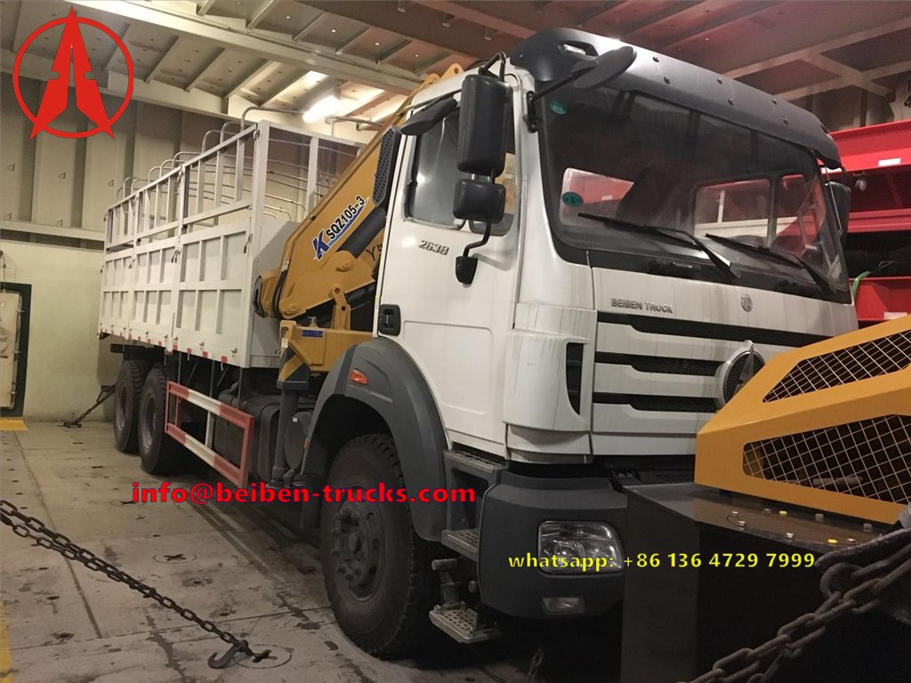 Beiben 2638 crane truck shipped board , for congo customer