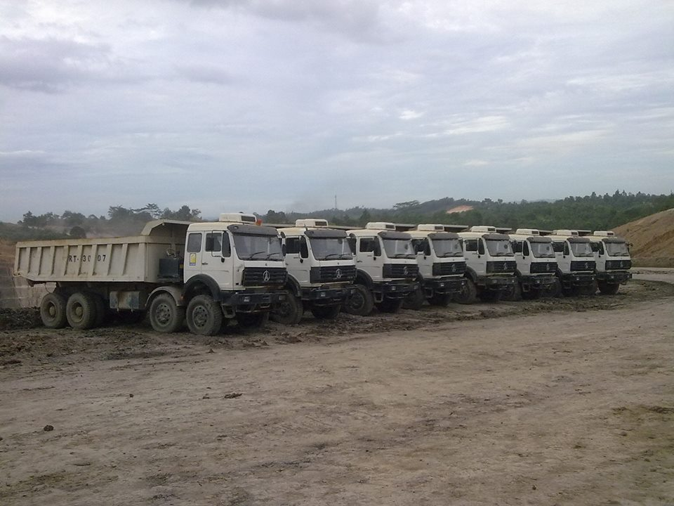 Beiben 50 T heavy duty 12 wheeler dump trucks export to Mombassa, Kenya