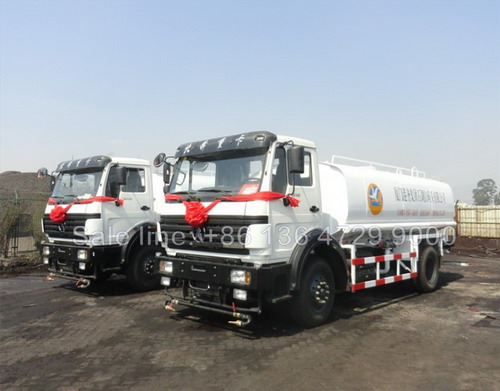 2 units beiben 10 CBM water tanker trucks for CHINA HARBOUR project in ANGOLA