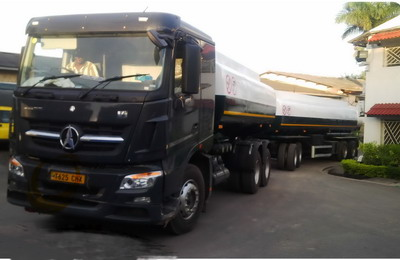 20 units beiben V3 fuel tanker truck export to tanzania customer