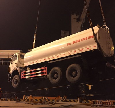 Beiben 20 CBM water tanker trucks are shipped for mombassa, kenya